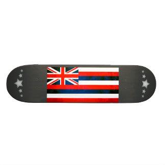 Colorful Contrast Hawaiian Flag Skate Board