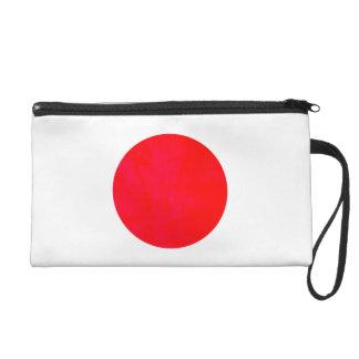 Colorful Contrast Japanese Flag Wristlet