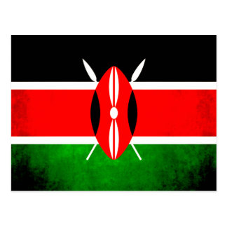 Colorful Contrast Kenyan Flag Postcard