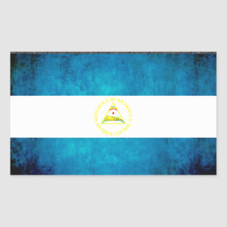 Colorful Contrast Nicaraguan Flag Rectangular Sticker