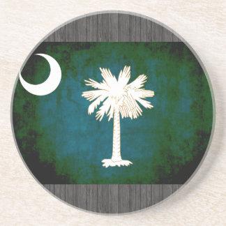 Colorful Contrast South CarolinianFlag Coaster