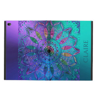 Colorful Cool Hued Metallic Mandala Personalized Powis iPad Air 2 Case