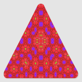 Colorful cool pattern triangle sticker