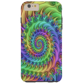Colorful Cool Psychedelic Fractal Spirals Pattern Tough iPhone 6 Plus Case