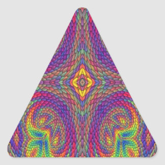 Colorful cool trendy pattern triangle sticker