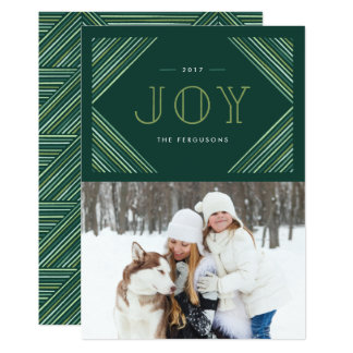 Colorful Corners Holiday Card - Moss