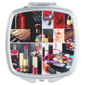 Colorful Cosmetic Collage Makeup Mirror