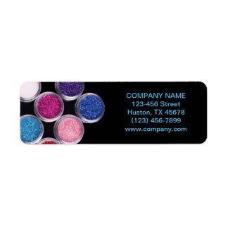 colorful cosmetics SPA beauty salon makeup artist Return Address Label