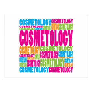 Colorful Cosmetology Postcard