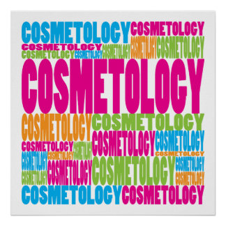 Colorful Cosmetology Poster
