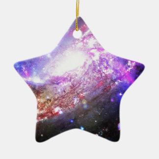 Colorful Cosmos Ceramic Ornament