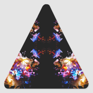 Colorful CosmosColorful Cosmos Triangle Sticker