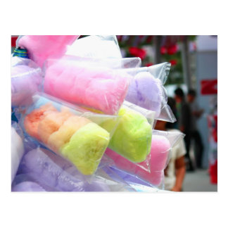 Colorful Cotton Candy Bags Postcard