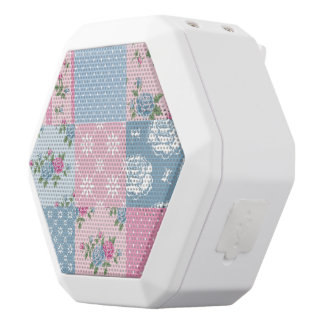 Colorful, country, chic, patch work,girly,cute,fun white boombot rex bluetooth speaker