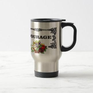 colorful courage art design travel mug