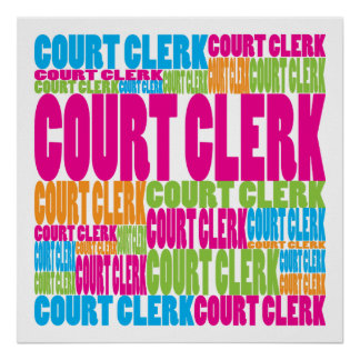 Colorful Court Clerk Print