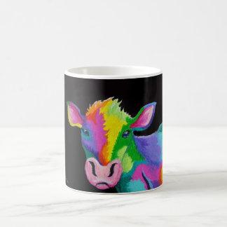 Colorful Cow Basic White Mug