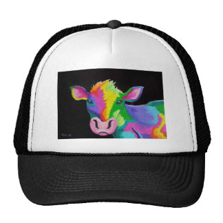 Colorful Cow Trucker Hats