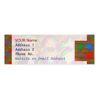 Colorful Cowboy Border Grace Leather Template Pack Of Skinny Business Cards