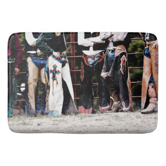 Colorful Cowboy Bull rider Chaps Shower Mat