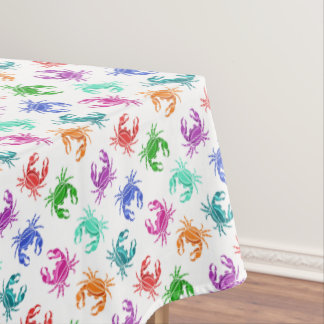 Colorful Crabs Tablecover Tablecloth