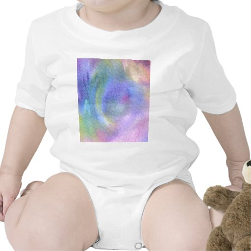 Colorful Cracks Abstract Baby Bodysuits
