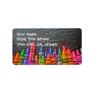 Colorful Crayon Address Labels