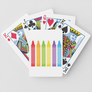 Colorful Crayons Bicycle Playing Cards