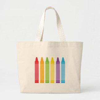 Colorful Crayons Large Tote Bag