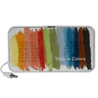 colorful crayons portable speaker