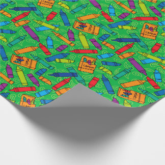 Colorful Crayons Wrapping Paper