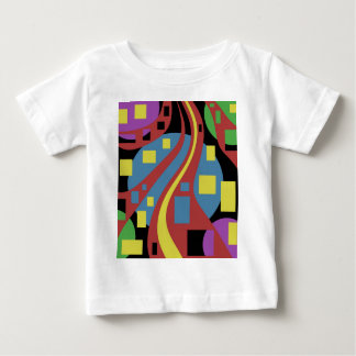 Colorful crazy abstraction baby T-Shirt