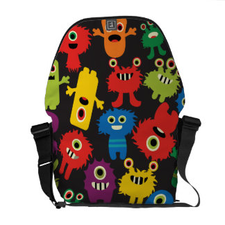 Colorful Crazy Fun Monsters Creatures Pattern Commuter Bags