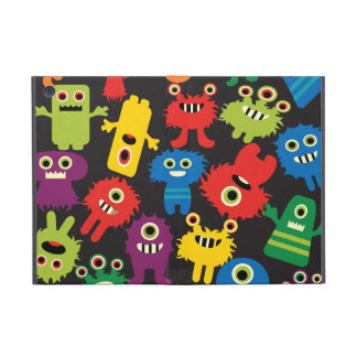 Colorful Crazy Fun Monsters Creatures Pattern Cover For iPad Mini