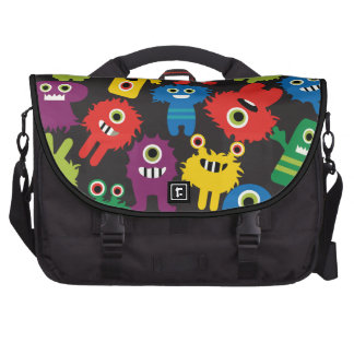 Colorful Crazy Fun Monsters Creatures Pattern Bag For Laptop