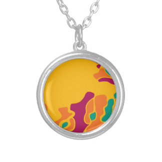 Colorful creativity silver plated necklace