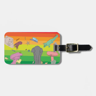 Colorful Creatures Bag Tag