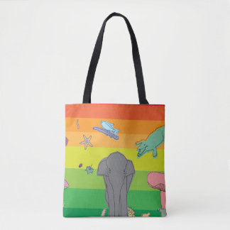 Colorful Creatures Tote Bag