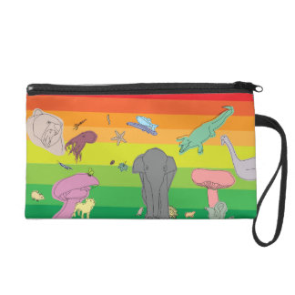 Colorful Creatures Wristlet Clutches