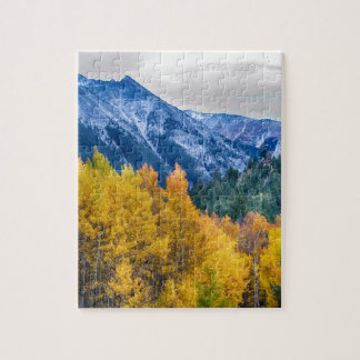 Colorful Crested Butte Colorado Jigsaw Puzzle