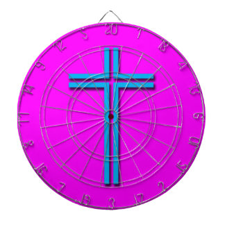 Colorful Cross Dart Boards