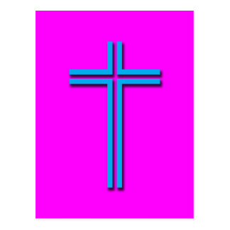 Colorful Cross Postcard