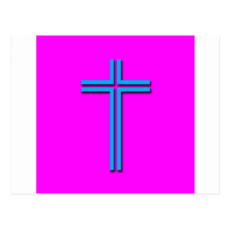Colorful Cross Postcard
