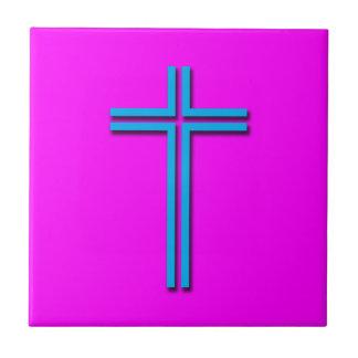 Colorful Cross Tile