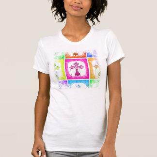 Colorful Crosses Christian Pop Art Collage T-Shirt