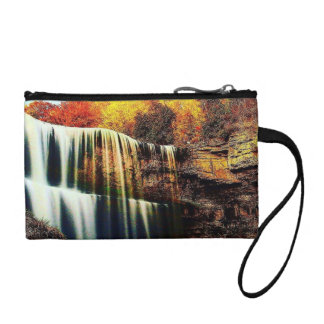 Colorful Crystal Clear Waterfall Key Coin Clutch Coin Wallets