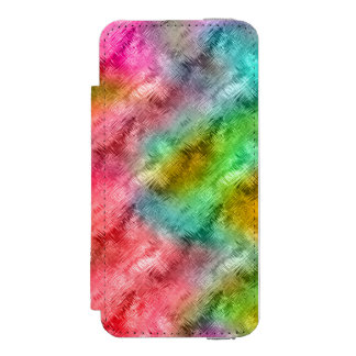 Colorful Crystal Glass Pattern Incipio Watson™ iPhone 5 Wallet Case