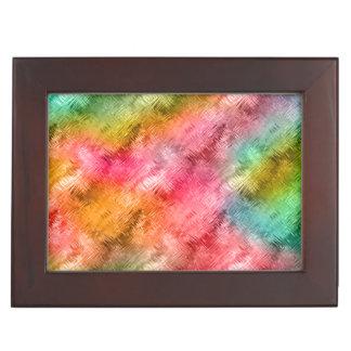 Colorful Crystal Glass Pattern Keepsake Box