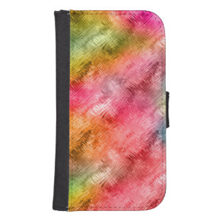 Colorful Crystal Glass Pattern Samsung S4 Wallet Case