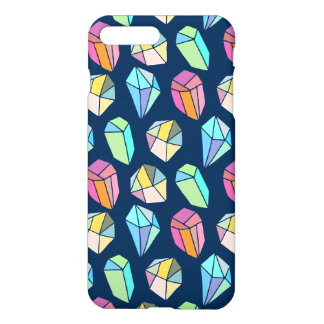 Colorful Crystal Stones Pattern iPhone 8 Plus/7 Plus Case